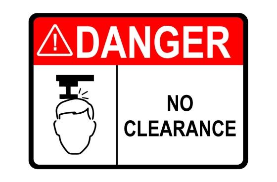 ANSI DANGER No Clearance Sign
