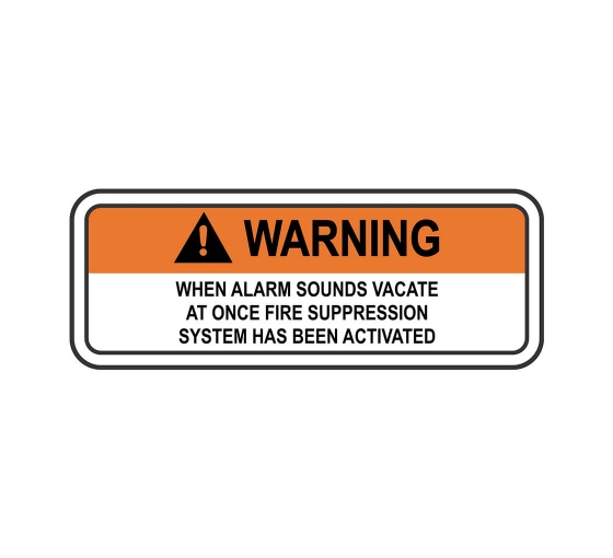 ANSI WARNING When Alarm Sounds Vacate Sign