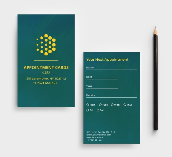 Appointment Cards - Vertical