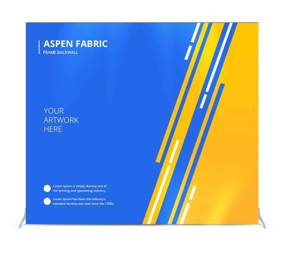 Aspen Fabric Frame Backwall