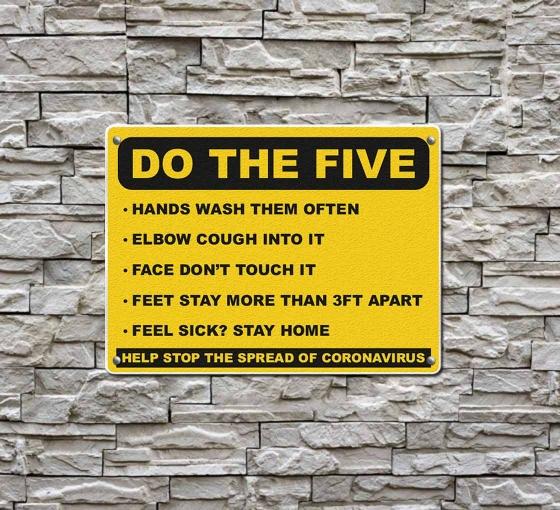 Do the Five Help Stop Spread Coronavirus Compliance signs