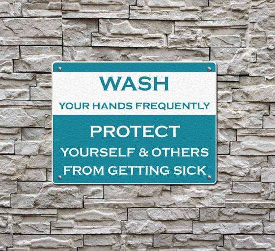 Covid-19 Prevention Wash your Hands Compliance signs