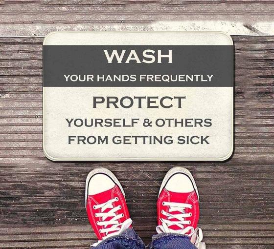 Covid-19 Prevention Wash your Hands Indoor Floor Mats
