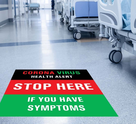 Coronavirus Stop Here if you have Symptoms Floor Decals