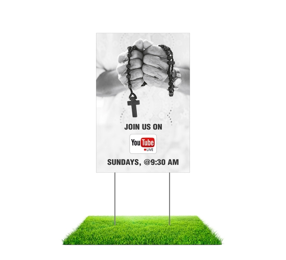 Join us on Youtube Live Yard Signs (Non reflective)