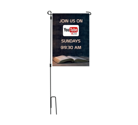 Join us on Youtube Live Garden Flags