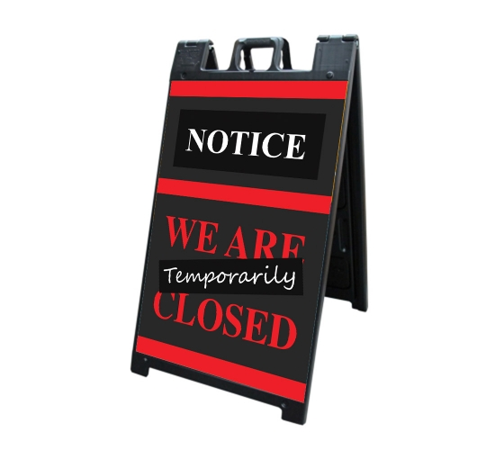 We are Temporary Closed Signicade Black