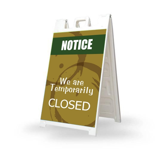 We are Temporary Closed Signicade White