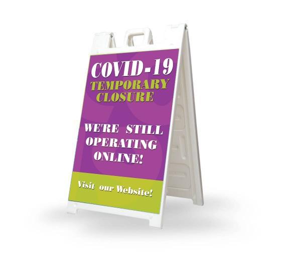 Covid-19 Temporary Closure Signicade White