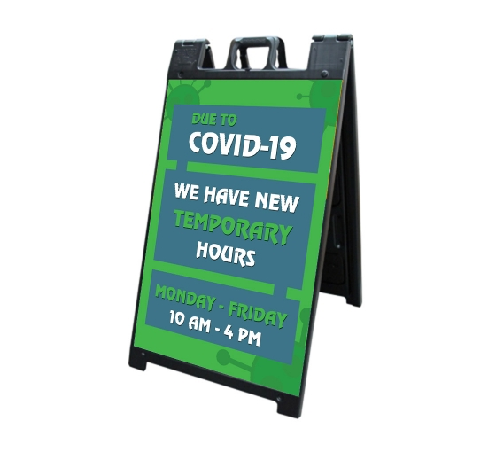 New Temporary Hours due to Covid-19 Signicade Black