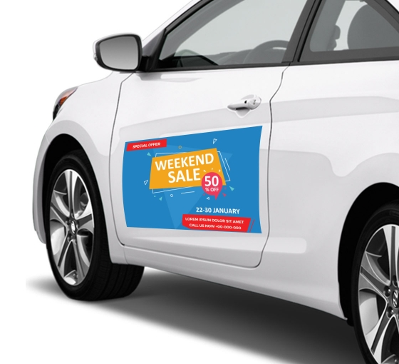 Bubble-Free Car Decals / Stickers (Opaque)