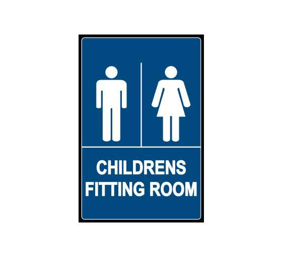 Children's Fitting Foom Sign