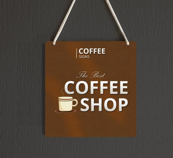 Reflective Coffee Signs