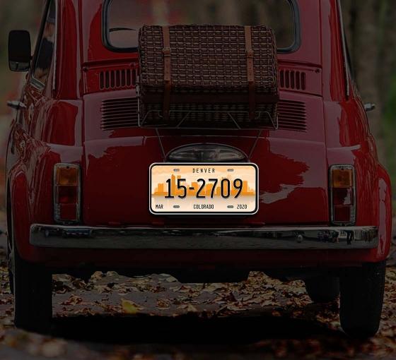 Reflective Colorado License Plates