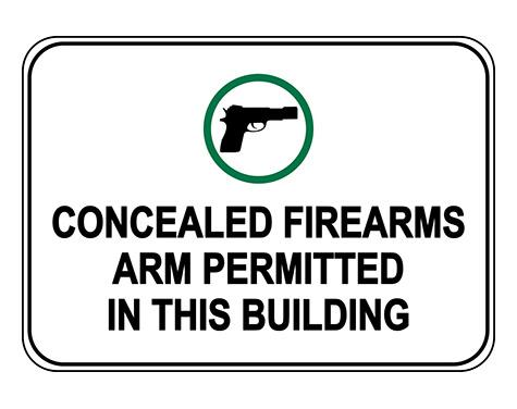 Concealed Firearms Are Permitted In This Building Sign