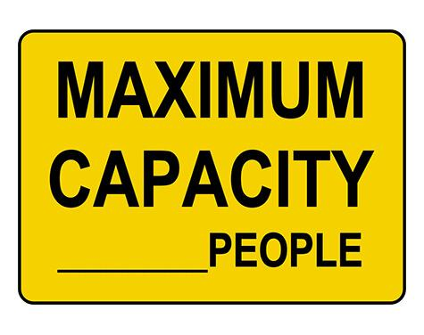 Custom Maximum Capacity-People Sign