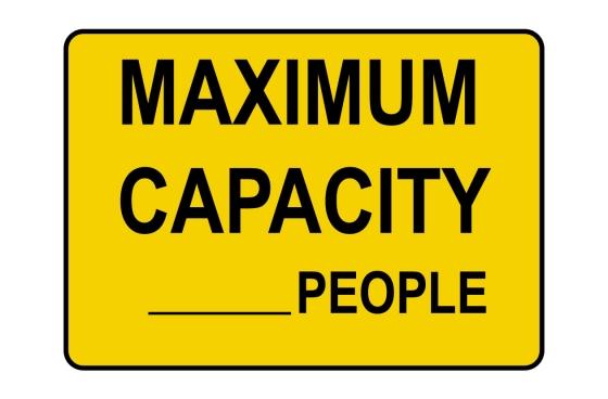Custom Maximum Capacity-People Sign