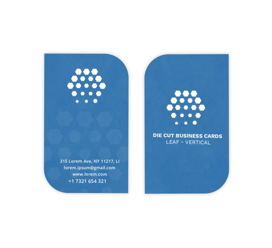 Leaf Business Cards - Vertical