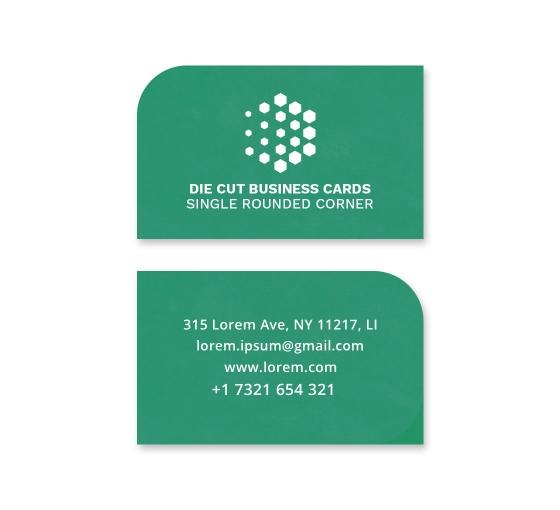 Die-Cut Business Cards