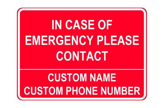 Emergency Number Sign