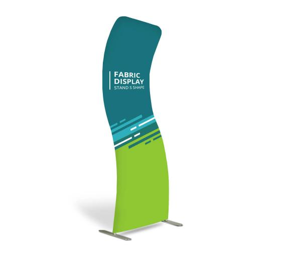 Fabric Display Stand S Shape