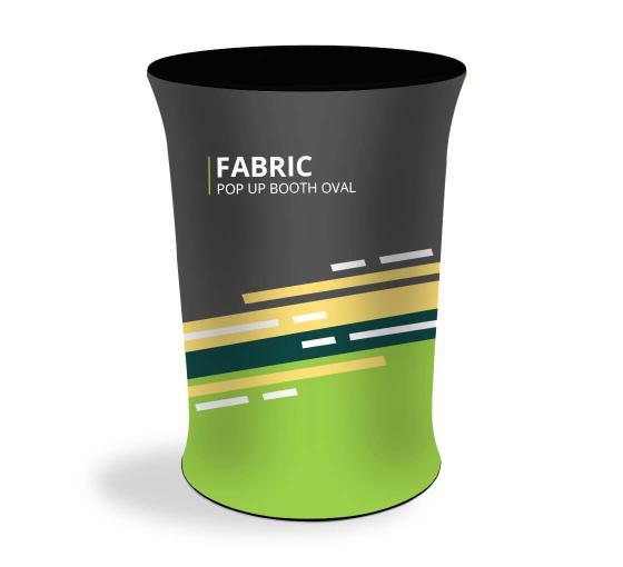 Fabric Pop Up Booth Oval