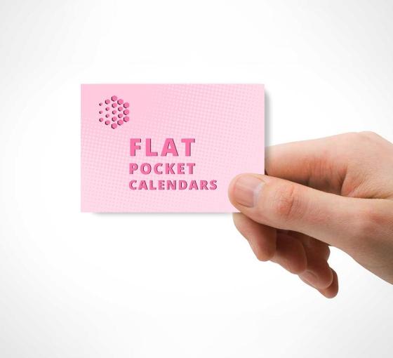 Flat Pocket Calendars