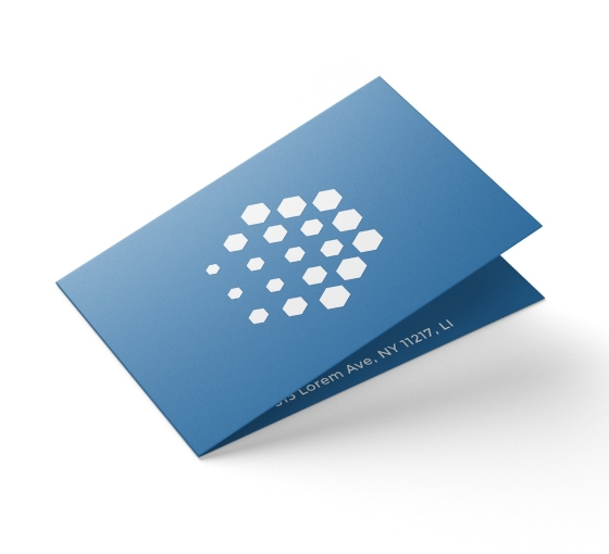 Folded Business Cards - Vertical