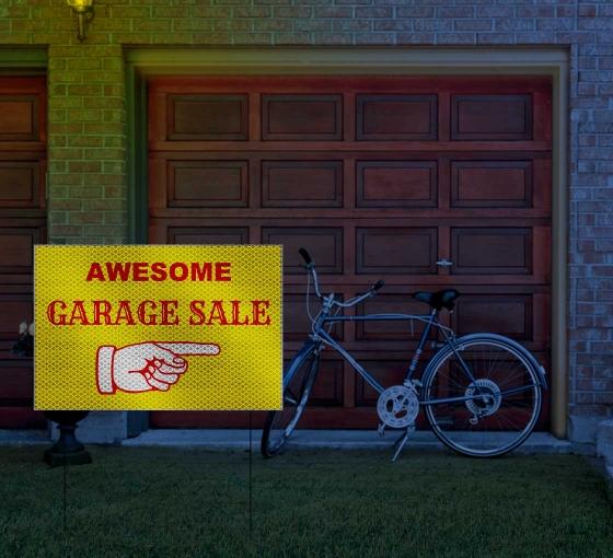 HIP Reflective Garage Sale Signs