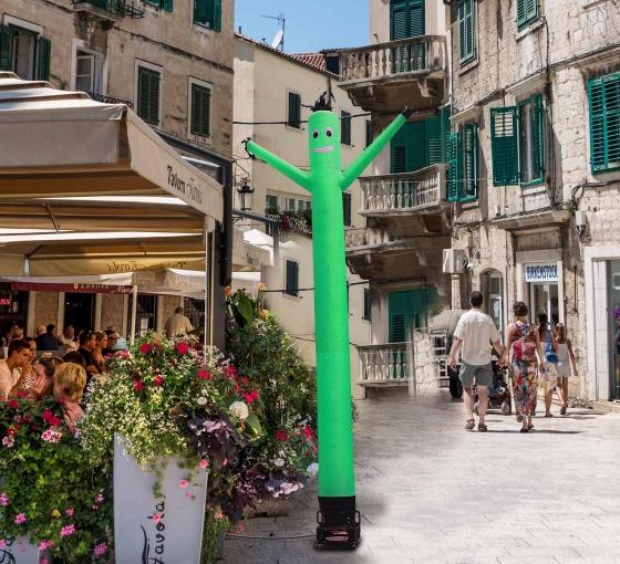 Green Inflatable Tube Man