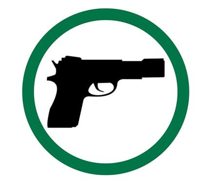 Guns Permitted Symbol Label