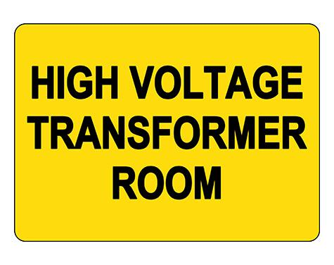High Voltage Transform Room Sign