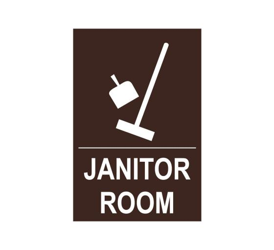 Janitor Room Sign