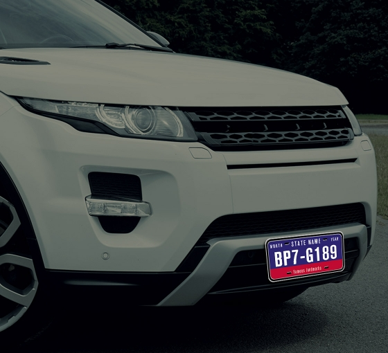 Reflective Custom License Plates