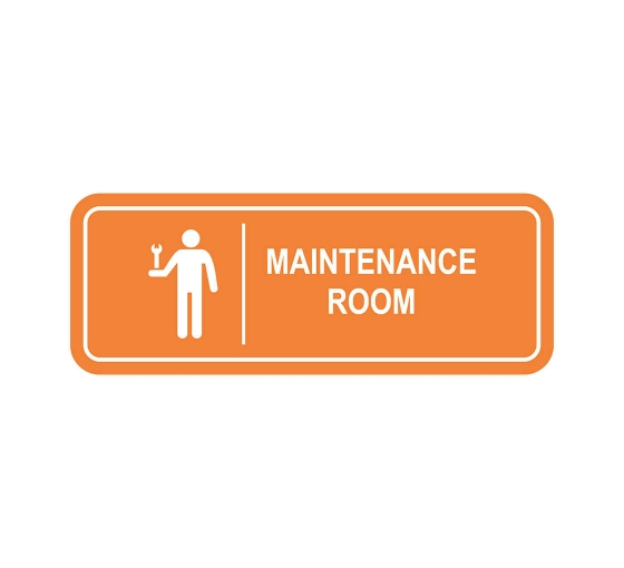 Maintenance Room Sign