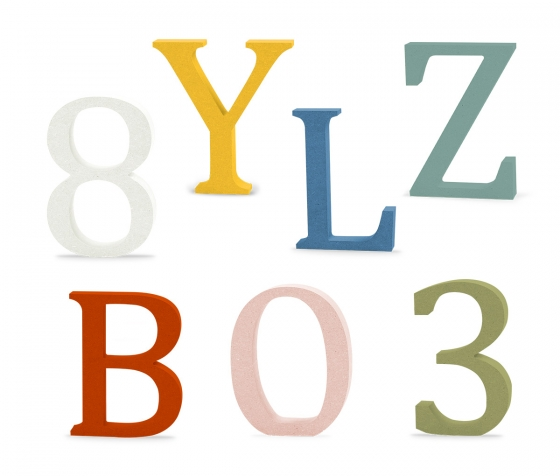 Wooden letters-MDF-Alphabet-Hand made-PAINTING AVAILABLE-Names,Signs-Bookman
