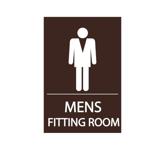 Men's Fitting Room Sign