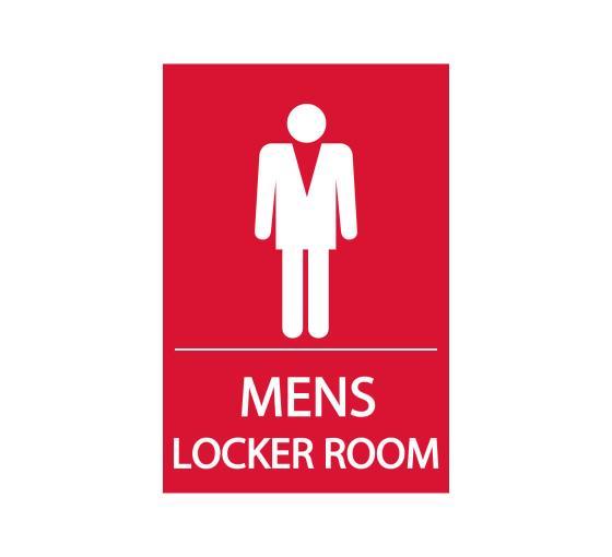 Men's Locker Room Sign