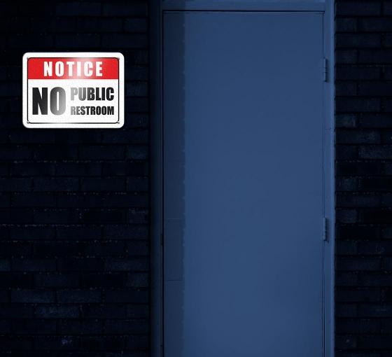 Reflective No Public Restroom Signs