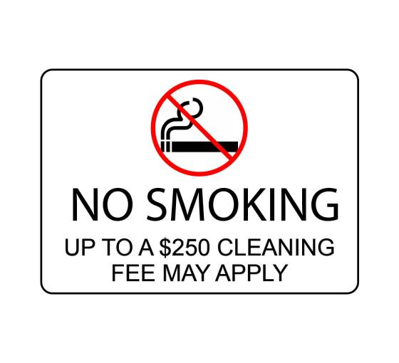 No Smoking Cleaning Sign