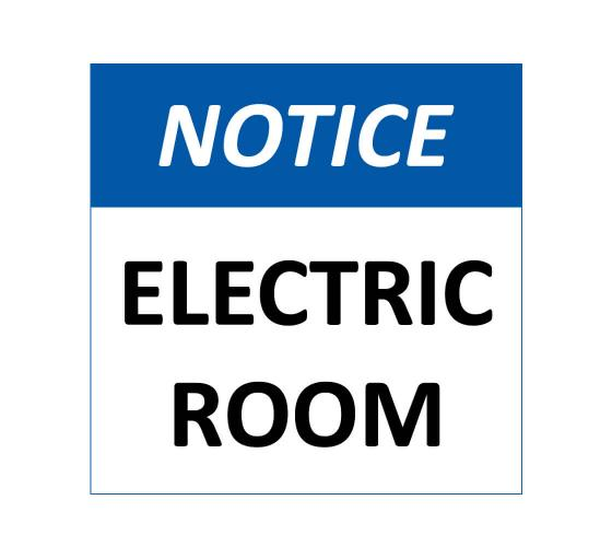 Notice-Electrical Room Sign