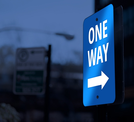 Reflective One Way Street Signs