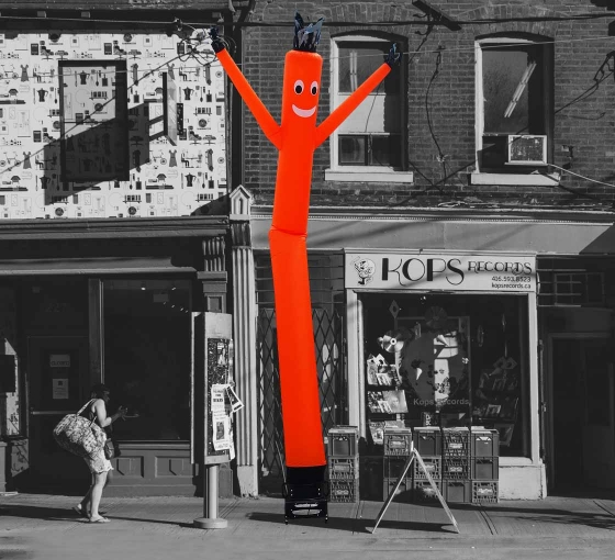 Orange Inflatable Tube Man