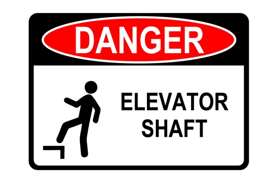 OSHA DANGER Elevator Shaft Sign