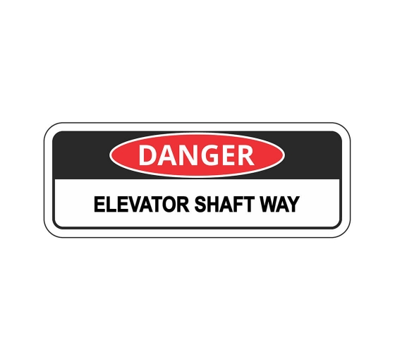 OSHA DANGER Elevator Shaft Way Sign