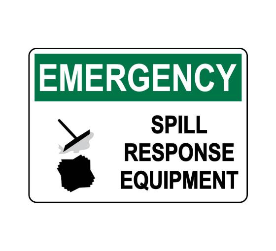 OSHA EMERGENCY Spill Response Equipment Sign