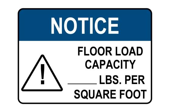 OSHA CAUTION Custom Load Capacity - Lbs Sign