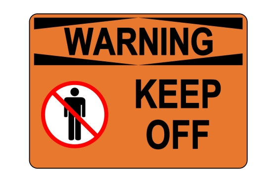 OSHA WARNING Keep Off Sign