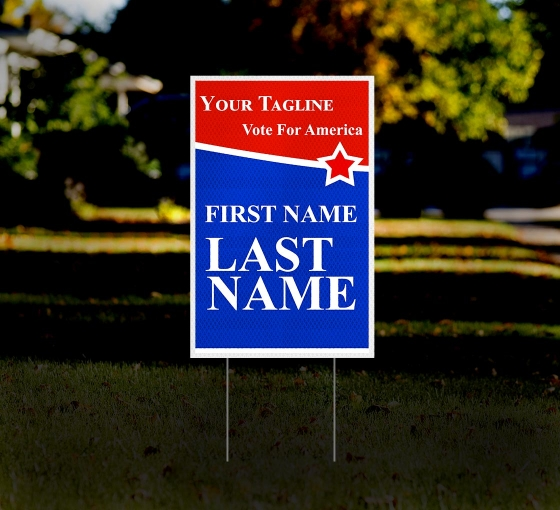 Political HIP Reflective Yard Signs