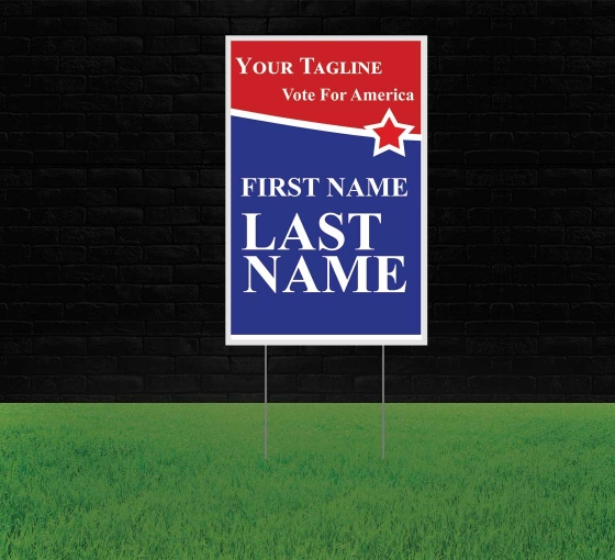 Political Reflective Yard Signs